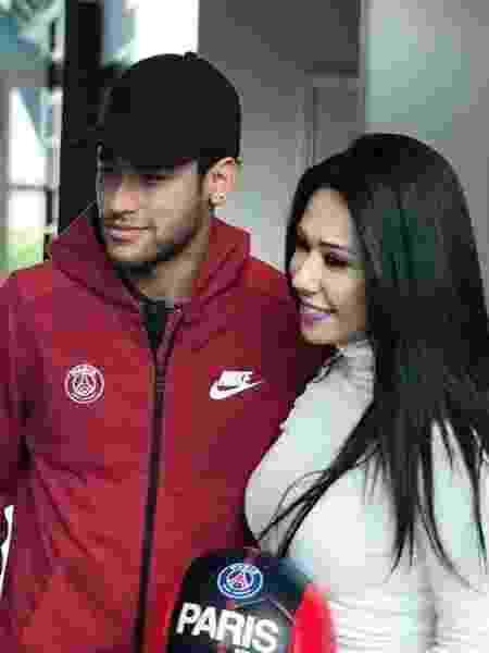 Raquel Freestyle com o jogador Neymar Jr. em Paris - Divulgação - Divulgação
