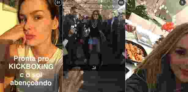 Yasmin Brunet, Sabrina Sato e Thaeme são algumas das famosas que aderiram ao Snapchat - Reprodção/Snapchat