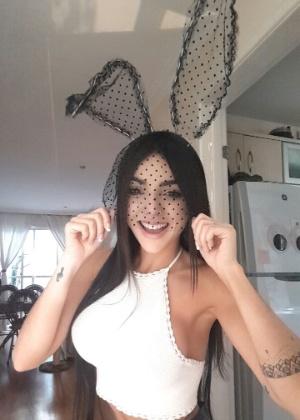 Nyvi Estephan foi escolhida como a modelo de capa de novembro - Divulgação/Playboy