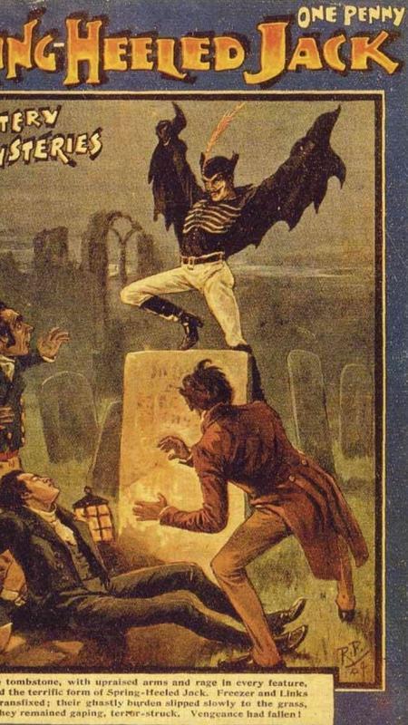 Spring-heeled Jack em versão publicada do século 19 - Divulgação