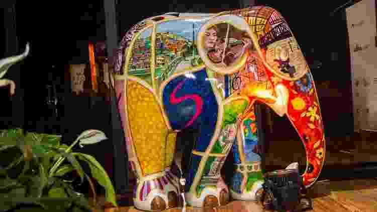 Imagem do lançamento da Elephant Parada em São Paulo - Fotograferia Luz/Reprodução - Fotograferia Luz/Reprodução