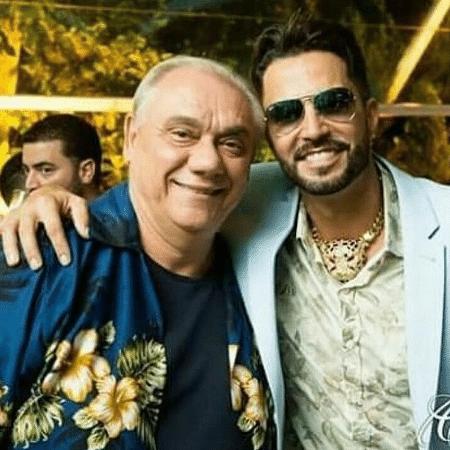 Latino publica foto antiga ao lado de Marcelo Rezende - Reprodução/Instagram/latino
