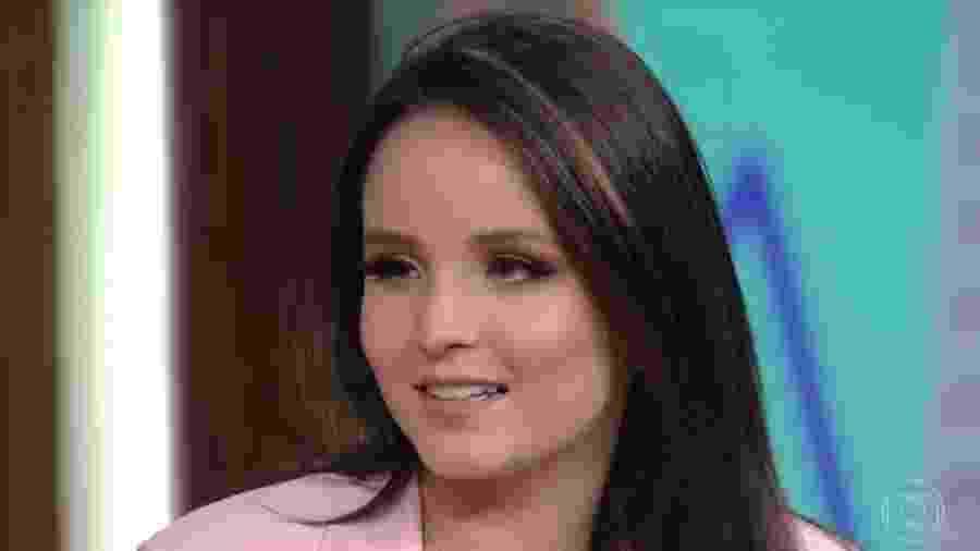 """Larissa Manoela participou do """"Conversa com Bial"""" - Reprodução/TV Globo"""