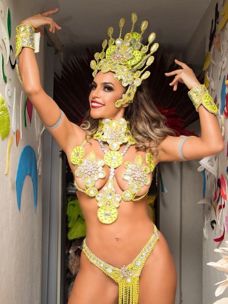 Ana Paula Ferrari, madrinha da X-9 - Eliseu Silva/Divulgação