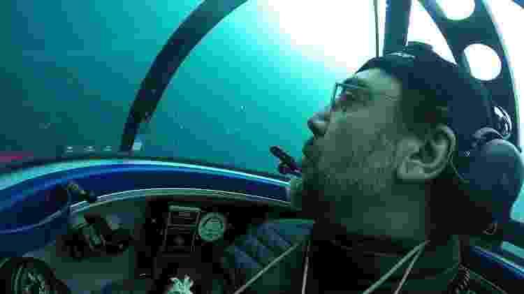 O ator em espanhol em passeio submerso  - Christian Aslund/AFP Photo/Greenpeace - Christian Aslund/AFP Photo/Greenpeace