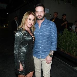 Zilu Camargo com o namorado, Marco Augusto Ruggiero