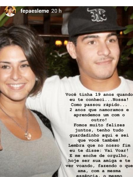 Fernanda Paes Leme posta homenagem para Thiago Martins - Reprodução/Instagram