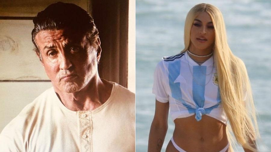 Sylvester Stallone e Pabllo Vittar foram, respectivamente, as duas celebridades mais buscados do Google neste ano - Fotomontagem/Reprodução/Instagram/AgNews