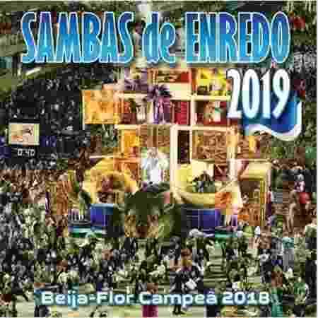 """Capa do CD """"Sambas de Enredo 2019"""" do Grupo Especial do Carnaval do Rio de Janeiro - Reprodução"""