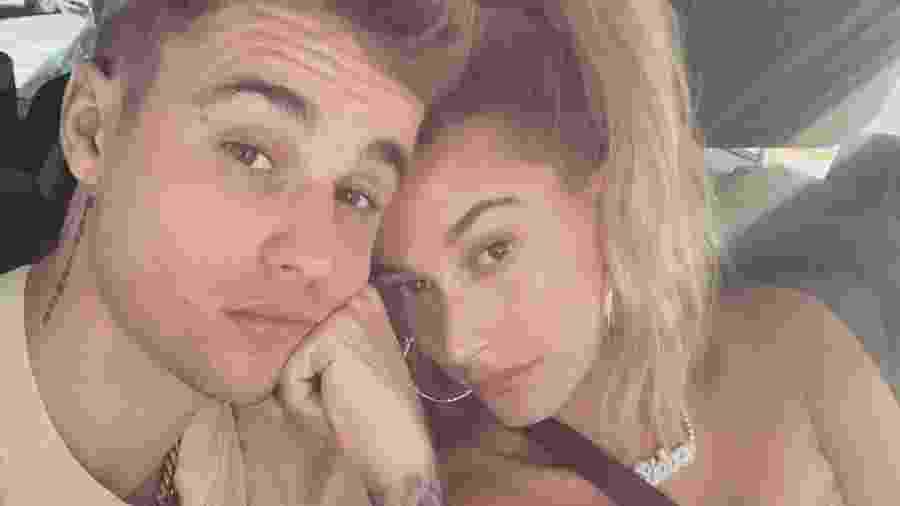 Justin Bieber e a mulher, Hailey - reprodução/Instagram