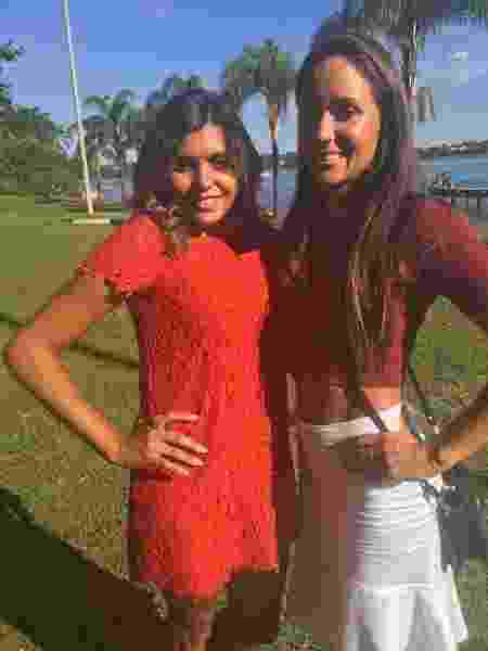 Amanda Oliveira e Denise Veberling, antes de terminarem a amizade por causa de um empréstimo - Aqruivo pessoal