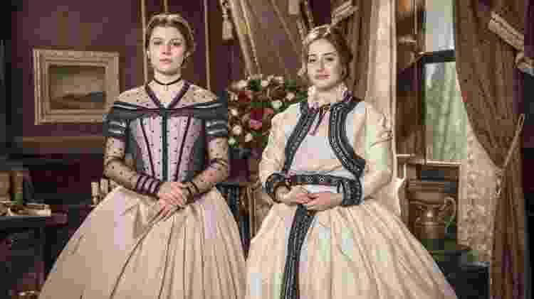 Isabel (Giulia Gayoso) e Leopoldina (Bruna Griphao) são filhas de Teresa Cristina (Leticia Sabatella) com Dom Pedro II (Selton Mello) - João Miguel Jr/Globo