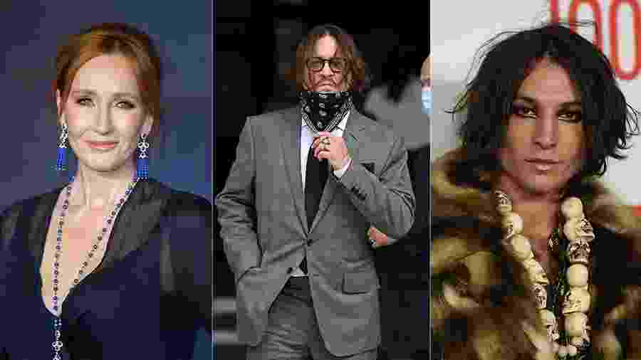 JK Rowling, Johnny Depp e Ezra Miller - Getty Images