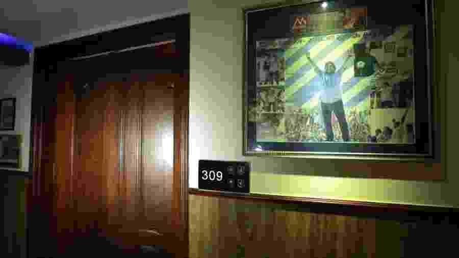 Suíte 309: quarto onde jogador se hospedou em visita à Índia - AFP