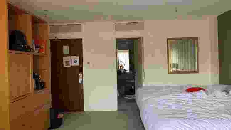 Quarto de hotel onde família de brasileiros passou a quarentena na Austrália - Arquivo pessoal - Arquivo pessoal