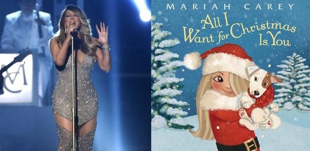 """Livro será baseado na canção """"All I Want For Christmas Is You"""" - AP /Instagram /Montagem UOL"""
