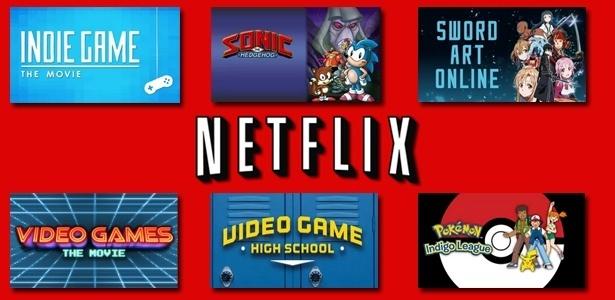 Acervo do serviço de streaming tem documentários e desenhos animados sobre games - Arte/UOL