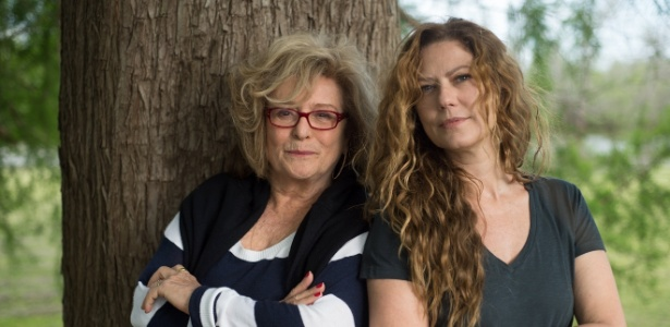 Marília Carneiro e Patrícia Pillar durante as gravações na Patagônia - Arquivo Pessoal