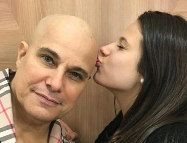 Edson Celulari com a filha, Sophia, em foto postada por Claudia Raia - Reprodução/Instagram/claudiarreal