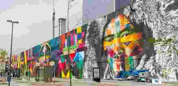 """Mural """"Etnias"""" no Rio de Janeiro, do artista Eduardo Kobra - Divulgação/Riotur"""