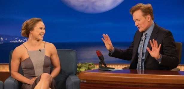 "Ronda Rousey falou sobre ""World of Warcraft"" no programa de Conan O"" Brien - Reprodução"