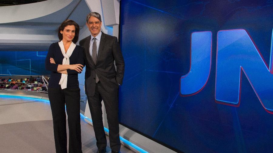 """William Bonner e Renata Vasconcellos no cenário do """"Jornal Nacional"""" - Estevam Avellar/Divulgação/TV Globo"""