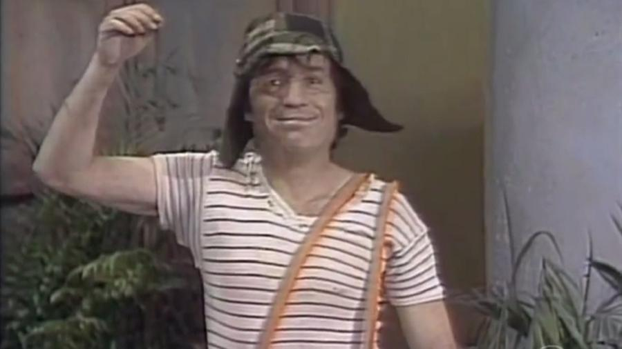 """Cena final do episódio """"O Matador de Lagartixas"""", o primeiro de """"Chaves"""" exibido no Brasil - Reprodução/SBT"""