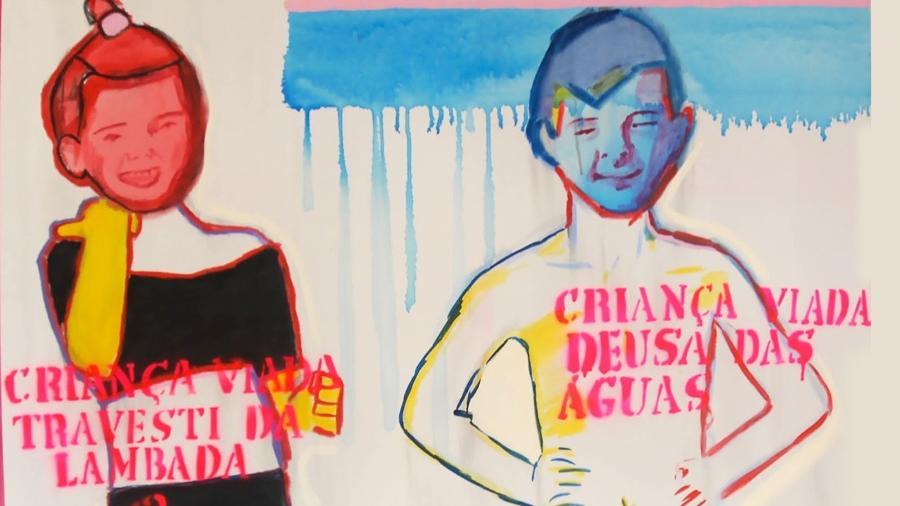 """Obras de Bia Leite no """"Queermuseu"""": ?Um trabalho atento e delicado para se conversar sobre infância e violência"""", explica a artista - Reprodução/Facebook"""