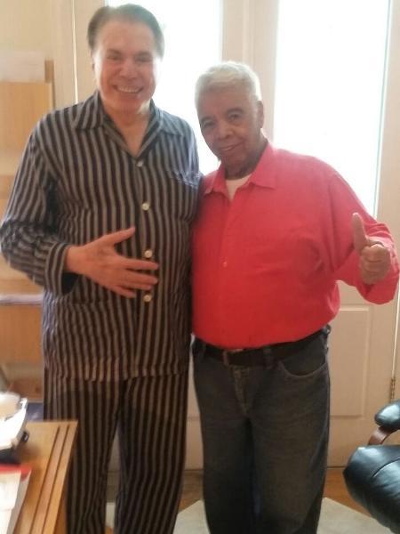 Roque visita Silvio Santos após receber alta médica - Arquivo pessoal/Gonçalo Roque