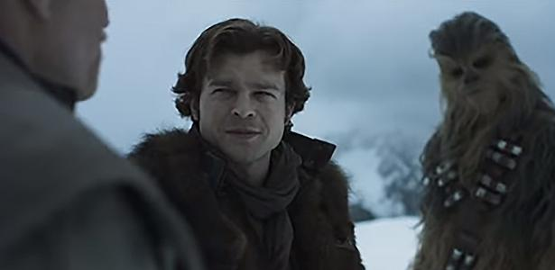 """Han Solo e Chewbacca em cena de """"Solo: Uma História Star Wars"""""""