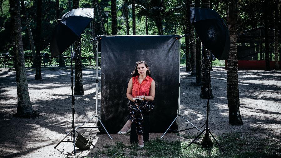 """""""Os homens perguntavam se eu estava de TPM e se batia no meu marido"""", conta a engenheira Giselle Patrícia - Lucas Aboudib/Universa"""
