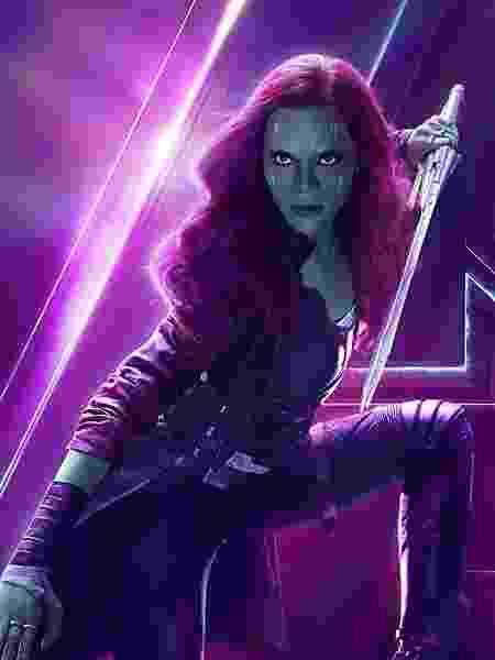 """Zoe Saldana é a Gamora em """"Vingadores: Guerra Infinita"""" - Divulgação"""
