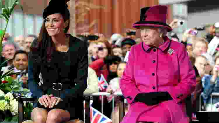 Catherine, a duquesa de Cambridge, com a rainha Elizabeth - Getty Images - Getty Images