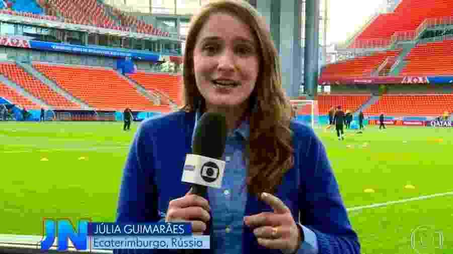 Júlia Guimarães está pela primeira vez na cobertura de uma Copa do Mundo  - Reprodução/Instagram/jujuguimaraes25