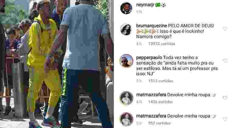 """Neymar mostra """"look do dia """" e Bruna Marquezine se declara - Reprodução/Instagram - Reprodução/Instagram"""