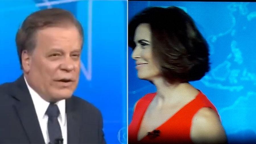 """Chico Pinheiro e Giuliana Morrone ficam perdidos no encerramento do """"Jornal Nacional"""" - Reprodução/TV Globo"""