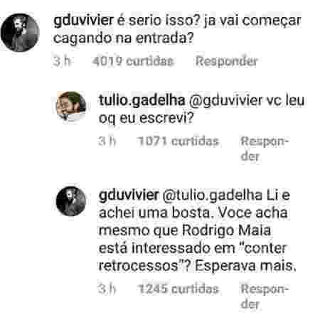 Túlio Gadêlha (PDT) conversa com Rodrigo Maia (Democratas) - Reprodução/Instagram