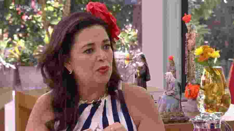 """Tereza, do """"BBB19"""", em bate-papo com Ana Maria Braga após ser eliminada do reality show - Reprodução/Globo"""