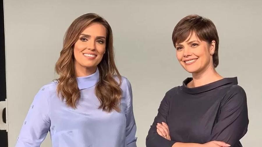"""Karyn Bravo e Ana Paula Couto ex-dupla de âncoras no """"Jornal da Cultura"""" noturno - Divulgação"""
