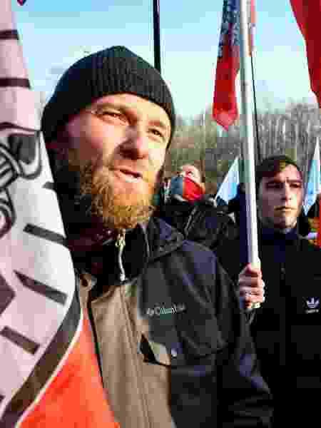 Protesto reúne homens contrários à aprovaçaõ de uma lei para combater ao feminicídio - Alexander Nemenov/AFP