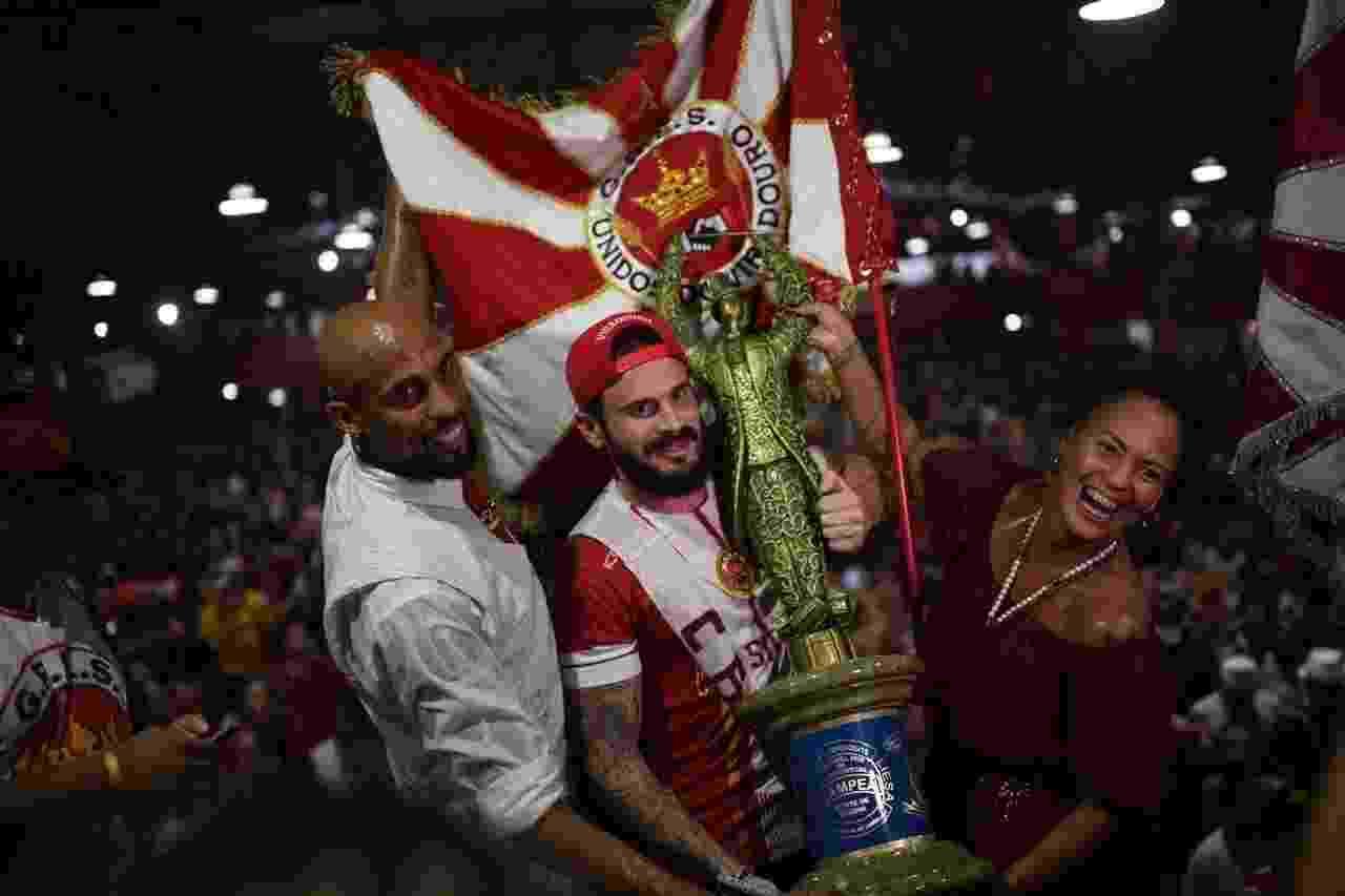 Presidente da Viradouro, Marcelo Calil Petrus Filho comemora título do Carnaval 2020 do Rio de Janeiro - Lucas Landau/UOL