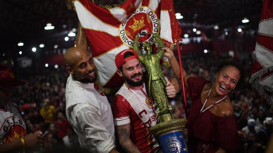 Comemoração da Viradouro, campeã do Carnaval carioca em 2020  - Lucas Landau/UOL