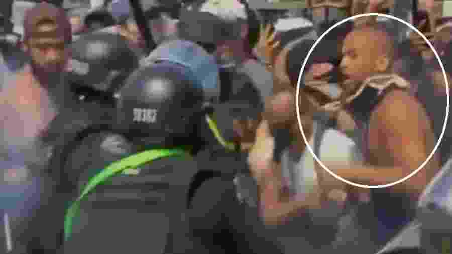 Kendrick Sampson publicou vídeo em que aparece no meio de confusão entre manifestantes e polícia nos EUA - Reprodução/Instagram