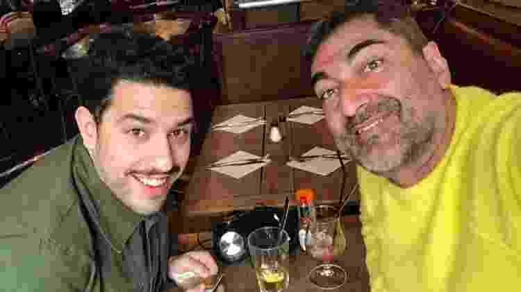 Com Simone Tondo, do restaurante Racine, em Paris - Arquivo pessoal - Arquivo pessoal