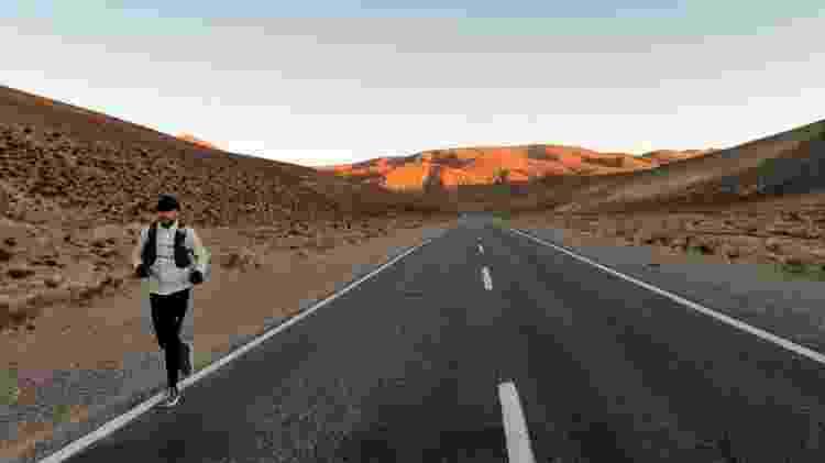 Juan já cruzou toda a Argentina e Chile, país onde teve que parar por conta da pandemia - Arquivo pessoal - Arquivo pessoal