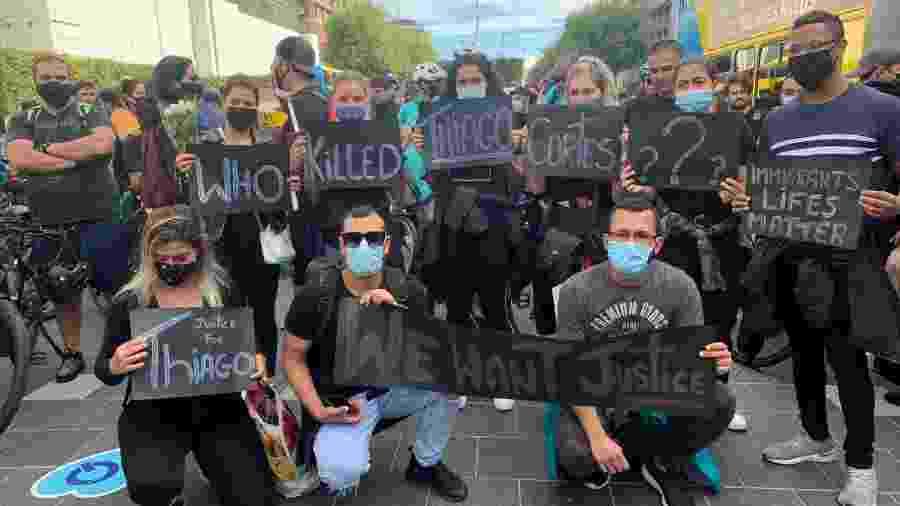 Brasileiros pedem justiça após morte de ciclista carioca em Dublin durante entrega de comida - Acervo