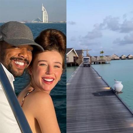 Nego do Borel e Duda Reis se hospedam em resort de luxo nas Maldivas - Reprodução / Instagram