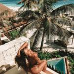 Aline Riscado comemorou estadia em hotel de Tulum com foto em paisagem paradisíaca - Reprodução/Instagram/@alineriscado