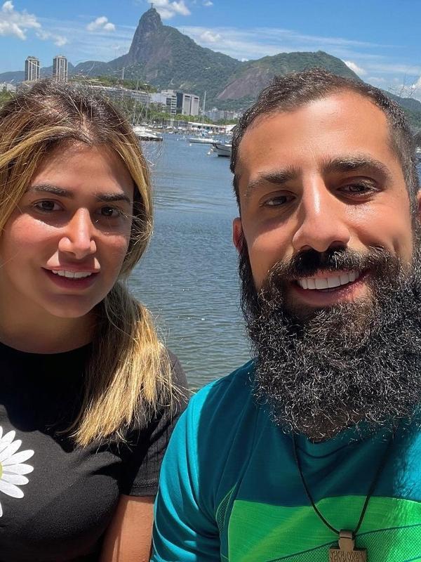 Kaysar com a irmã, Celine Dadour, em passeio no Rio de Janeiro