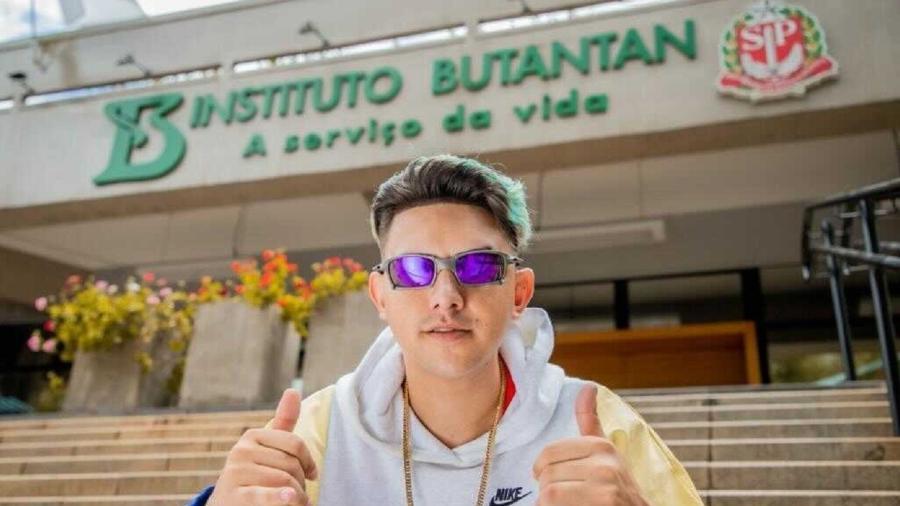 MC Fioti no Instituto Butantan - Divulgação